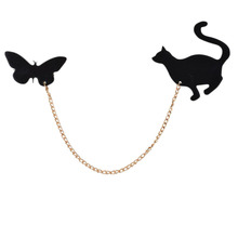 HOT NEW 1 PCS Fashionable Creative Brooch  Butterflies&Cat Brooches Pins For Women