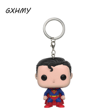 GXHMY DC Super Hero Superman Clark Kent Vinyl Action Figures Children Toy Keychain(China)
