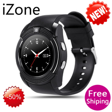 iZone 2017 V8 Bluetooth Smart Watch Sports Fitness Tracker SIM TF Card Pedometer Sleep Monitor Walking Distance Wireless