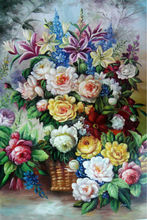 pictures with beads flower Handicraft Diamond Painting decoration household product Oil Painting Set for embroidery E639(China)