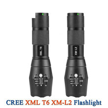 2017 new powerful CREE XML T6 xm-l l2 Zoom Lantern Waterproof Rechargeable Flashlight Led 18650 Battery Lamp Hand Light Torch(China)