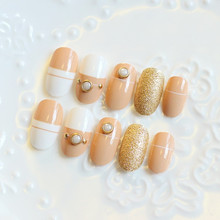 Vivi - Japanese pearl milk tea! Department, finished manicure The fake nails, nail plate 20 boxes of tools