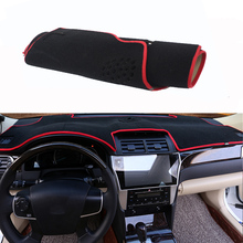 For Toyota Camry 2012 Car Dashboard Avoid Light Pad Instrument Platform Desk Cover Mat Silicone Non-skid Back Surface