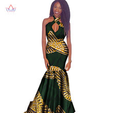 2018 New African Wax Print Dresses for Women Bazin Riche Sexy Party Hollow  Out Dress Plus Size African Women Clothing WY1346 a89f0c1c8942