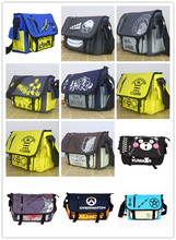 Anime Tokyo Ghoul/Totoro/Naruto/OPE PIECE/Time Raiders/Online Anime Action Figure Printed Canvas Shoulder Messenger Bag toy NEW(China)