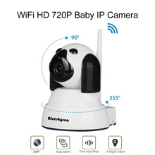 Blueskysea IL-HIP322-1M-ZY 3.6mm Lens Wireless COMS 1280*720P 355 degree Network Security IP WiFi Baby Monitor CCTV For Android