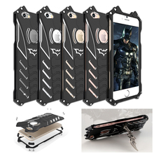 R-JUST Batman Rugged Metal Aluminum Shockproof Anti-Scratch Kickstand Case Cover Frame for iPhone 5 5c 5s 6 6s 7 & Plus ORIGINAL
