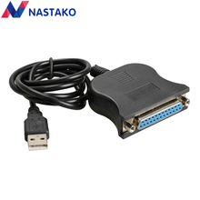NASTAKO USB 2.0 to DB25 Female Port Print Adapter Converter Cable DB25 LPT Bi-directional parallel interface communication(China)