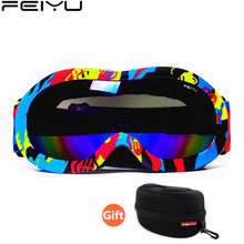2017 Kid Ski Goggles Double Anti Fogging Snowboard Mask Ski Sunglasses Snow Glasses Snowboarding Equipment Goggles For Skiing