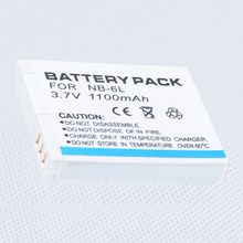 NB-6L NB 6L Battery Pack for Canon Power Shot ELPH 500 HS D10 D20 S90 S95 SD1300 SD1200 IS SX240 HS SX500 IS Digital Camera