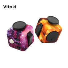 Camouflage Squeeze Fidget Cube Spinner 3.3*3.3cm Wood Grain EDC Desk Finger Toy Fun Anti Stress Puzzle Magic Cube Toy for Adult(China)