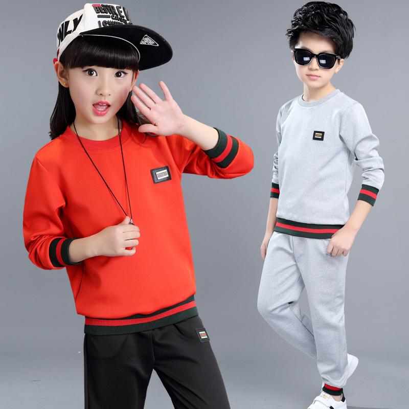 2017 Spring Clothing Sets Cotton Girls Boys Sports Suits Long Sleeve T-Shirts &amp; Pants 2Pcs Spring Autumn Teenage Girls Outfits<br><br>Aliexpress
