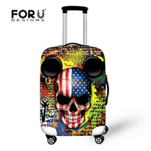 Novel Travel Luggage Protective Covers Skull Elastic Waterproof Anti-dust Covers for 18-30 Inch Case Travel Accessories(China)