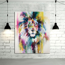 No Framed 1 Panel Modern Animal Lion king Oil painting on canvas wall decoration Home wall art picture painting on canvas(China)