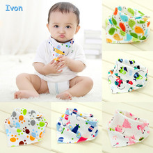 High quality double layers cotton baby bibs Burp Cloths Lovely Cartoon Character Animal baby bandana dribble bibs(China)