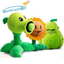 30CM Plants vs Zombies Pea Shooter Sunflower Squash Plush Toys Doll Soft Plush Toy Doll Game Baby Party toys birthday gift(China)
