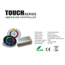 Touch RGB controller DC12V 24V 18A Wireless LED Controller RF Touch Panel LED Dimmer RGB Remote Controller