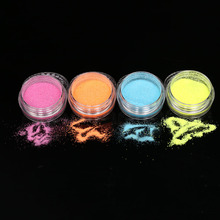 4Pcs Eyeshadow Powder Pigment Glitter Colorful Mineral Spangle Makeup Eyeshadow Cosmetic Loose Glitter Powder Eyeshadow