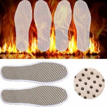 1Pair Tourmaline Self Heated Insoles, Heating Magnetic Foot Massage Insole Far Infrared Warm Shoe Pad,Infrared Rays Foot Cushion(China)