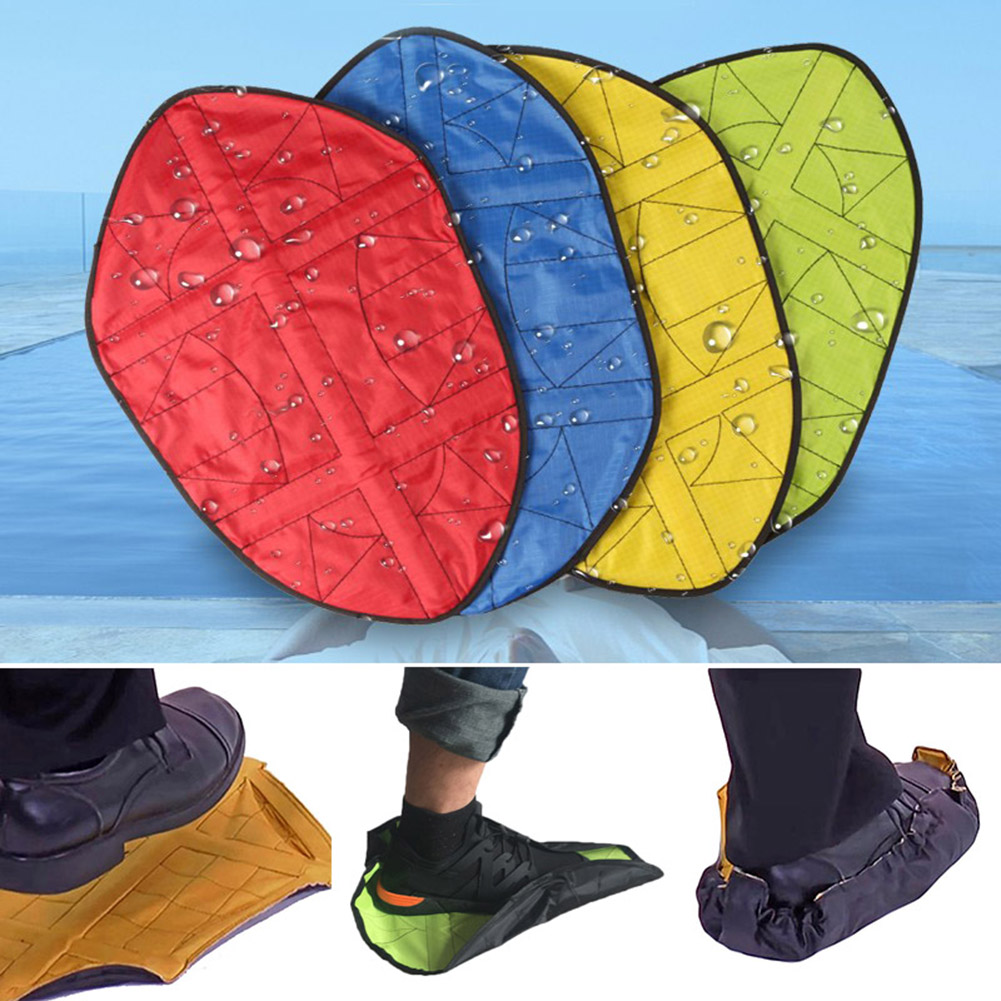 1Pair Reusable Automatic Lazy Shoe Covers Waterproof Durable Portable Hand Free Overshoes Quick Foot Covers Case Shoe Protector 1