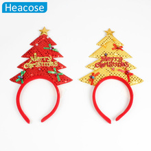 Merry Christmas trees Headband Hairbands Earmuffs Christmas decoration for home party Merry Christmas gifts navidad Accessories