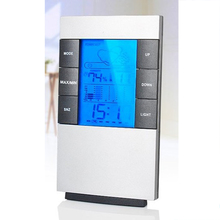 2016 Brand New LCD Digital Indoor Weather Thermometer Clocks Humidity Meter Hygrometer Alarm Clock Hot Sale