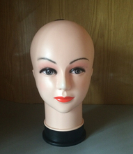Women's Mannequin Head Hat Display Wig Torso PVC training head model  head model femal head model