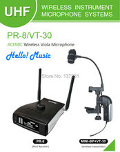 2016 New Cheap AIBIERTE Viola ACEMIC PR-8/VT-30 Professional stage true diversity Wireless Instrument Mcirophone for Viola(China)