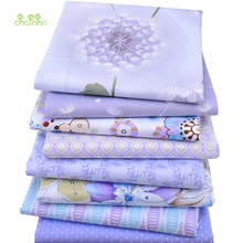 8pcs/lot, Chainho Twill Cotton Fabric Purple Floral Patchwork Cloth For DIY Quilting Sewing Baby&Children Sheets Dress Material(China)