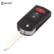 KEYYOU 2 +1 3 Button Flip Folding Remote Key Shell Car Case Fob Cover For Mazda 3 5 6 CX5 CX7 CX9 RX8 Free Shipping(China)