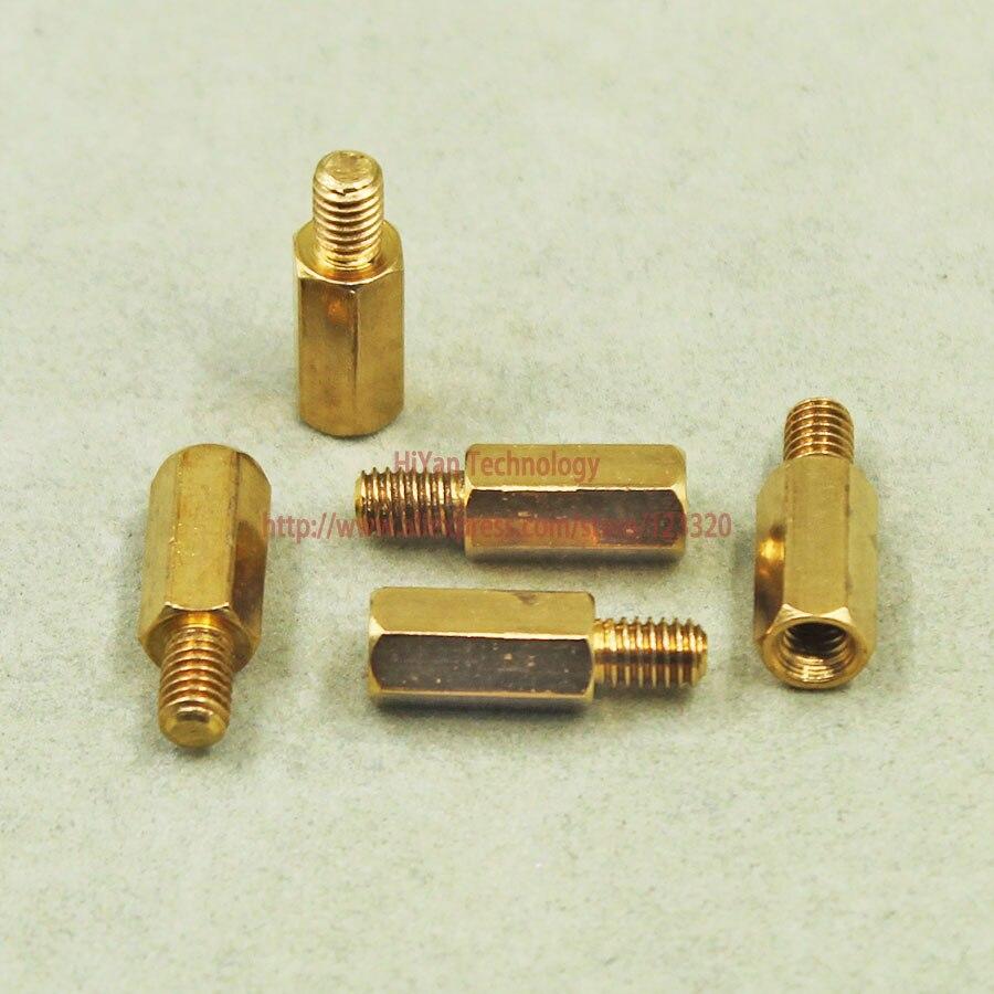 (50pcs/lot) Hardware M4 Male 6MM X M4 Female 12MM M4x12+6 MM Brass Standoff Spacer<br><br>Aliexpress