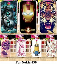 Soft Silicon TPU Or Plastic Mobile Phone Skin Cases For Nokia Microsoft Lumia 430 N430 Cases 18 Style Paint Durable Back Covers