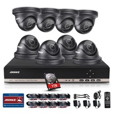 ANNKE 8CH 1080N AHD DVR 1800TVL 960P Outdoor Home Surveillance Camera System 1TB(China)