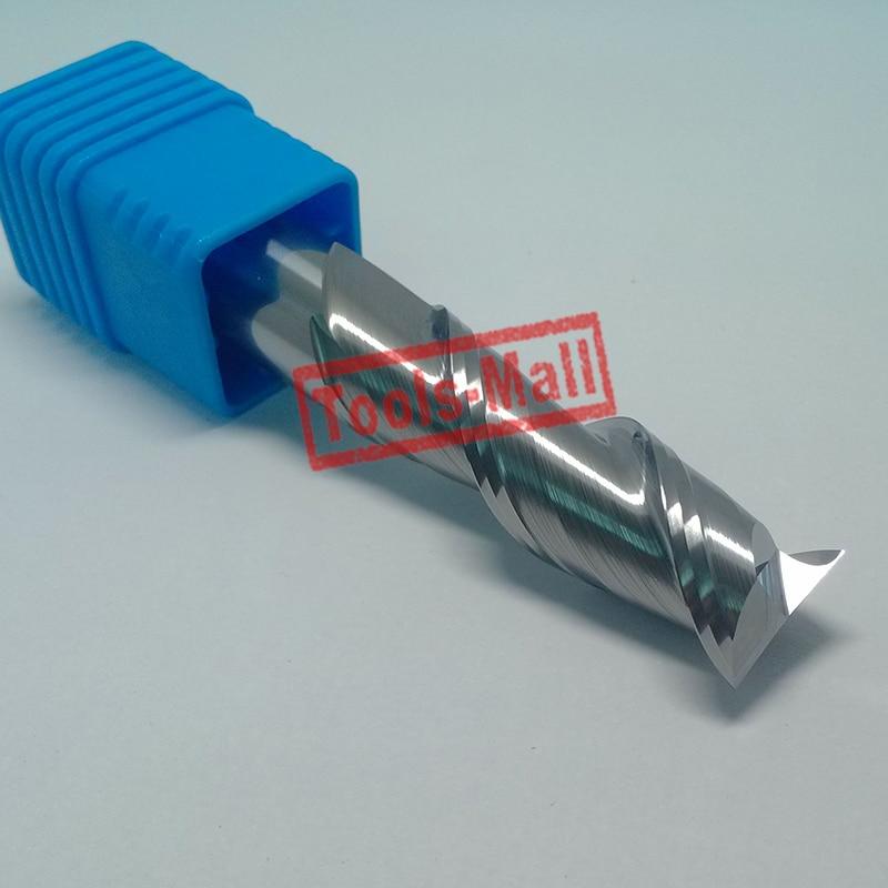 1pc 16mm D16*45*D16*100-HRC50 2 Flutes Milling cutters for Aluminum  CNC Tools Solid Carbide CNC flat End mills Router bits<br>