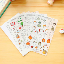 6 Sheet kawaii funny stickers rabbit paper sticker for kids animals small sticker for children diary decor vartoon sticker