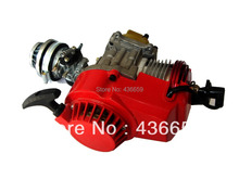 Performance 49cc Engine Mini Moto Quad ATV Pocket Bike Red Color and High Quality Metal Engines(China)