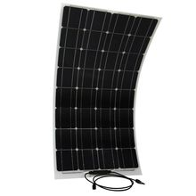 Semi flexible bending 100 w 100 watt lightweight solar panels to the 12 v battery manufactured by China crystal Yang