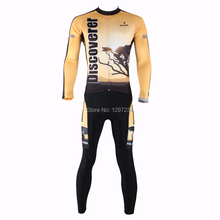 2016 ILpaladino men's long sleeve yellow leaves cycling jersey/one piece cycling pants cycle gear /biking sets/kits