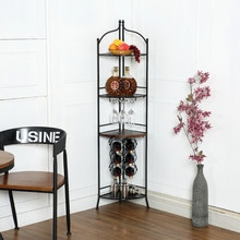 Wine holder vertical creative ground wine rack metal iron shelf Wine frame wall triangle wine cup frame
