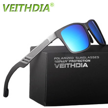 VEITHDIA Original Brand Logo HD Aluminum Magnesium Men Mirror Driving Glasses Goggles Oculos De Sol Polarized Sunglasses 6560