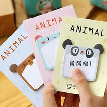 Creative Square Elephant Mouse Self-Adhesive N Times Memo Pad Sticky Notes Post It Bookmark School Office Supply(China)