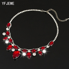 2018 TOP Pendants Necklace For Women Exquisite Rhinestone Pendant Necklace Fashion Collar Jewelry Red Carpet Necklace #N004(China)