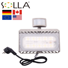 Led Flood light Motion Sensor 50W 30W 110V 220V Cree Reflector Waterproof PIR Projector Lamp Outdoor lighting(China)