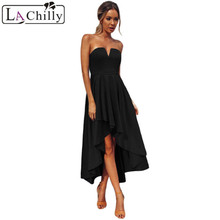 Buy La Chilly Robe Femme Ete 2018 Elegant Women-dress Summer Clothes Black Sexy Strapless Party Ladies Dresses LC61913 Vestido Largo for $25.98 in AliExpress store