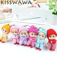 KISSWAWA 2017 NEW Kids Toys Soft Interactive Baby Dolls Toy Mini Doll For girls and boys 6pcs/set