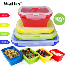 WALFOS Folding Silicone Lunch Box Food Storage Container Kitchen Microwave Tableware Portable Household Outdoor Food box(China)