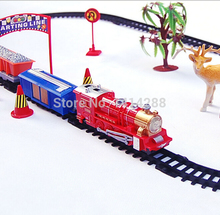 Develop Intelligent Toy for Children Education Mini Electric Truck Railcar DIY Slot  Toy Vehicles Kids Toys Sets Christmas Gifts