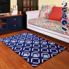 Vintage Geometric Striped Carpet European Classic Style Living Room Bedroom Tea Table Rugs Anit-slip Home Floor Mat L50(China)
