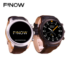 "Finow X5 Smart Watch Android 4.4 AMOLED 1.4"" Display 3G WiFi GPS Dual Bluetooth SmartWatch Clock Phone for iOS Android Phone"