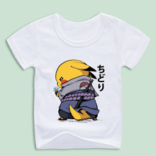 Ready Stock,Boy and Girl Pikachu Cartoon T-shirts Kid's Pika chu Tops Tee Baby Shirts(China)